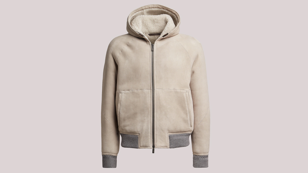 Ermenegildo Zegna Hooded bomber jacket