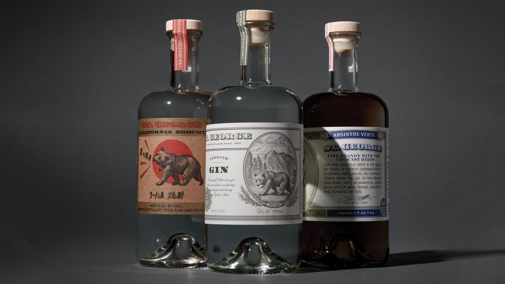 Spirits distilled by St. George Spirits