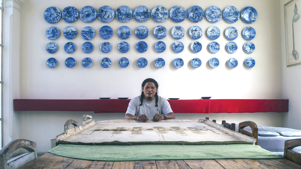Artist Esterio Segura In His Havana Studio