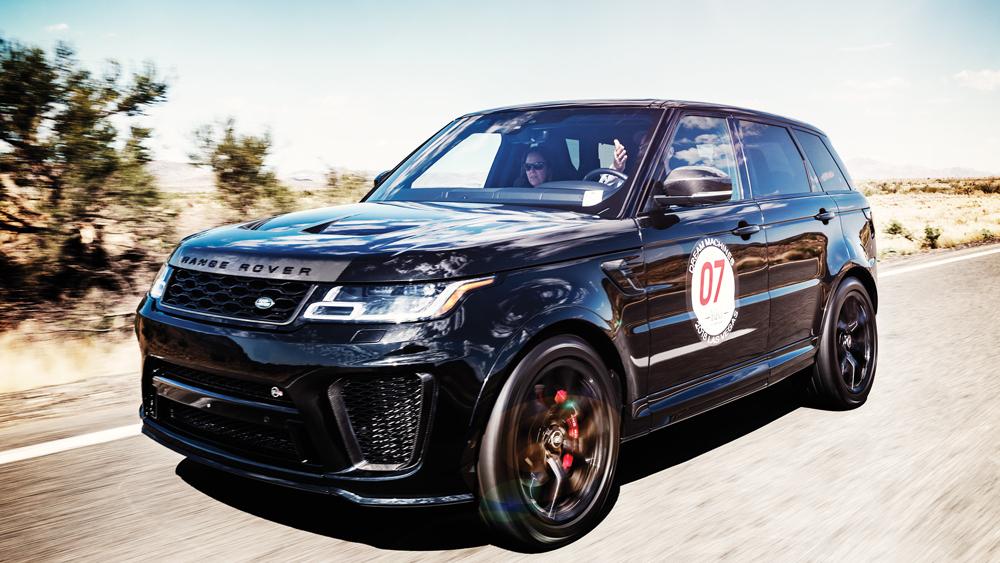 The Range Rover Sport SVR.