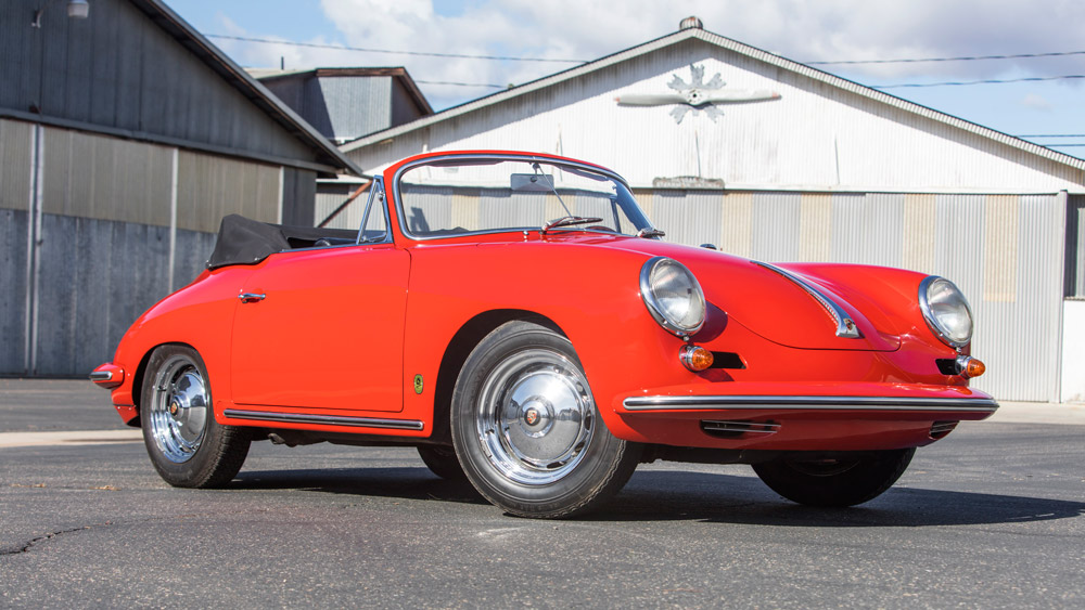 The 1963 Porsche 356 Carrera 2 GS Cabriolet to be presented at the 2019 Bonhams Scottsdale Auction.