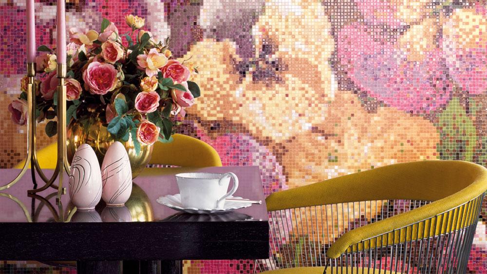 flower mosaics Bisazza