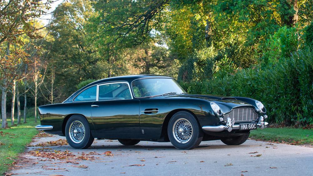 A 1964 Aston Martin DB5 4.2-Liter Sports Saloon.