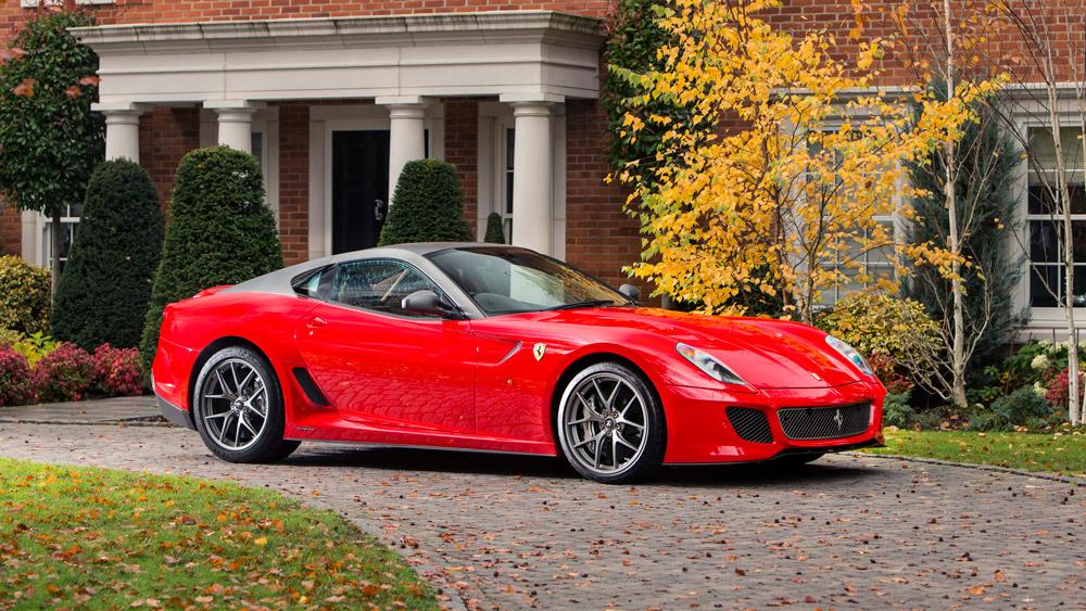 A 2011 Ferrari 599 GTO Coupe.