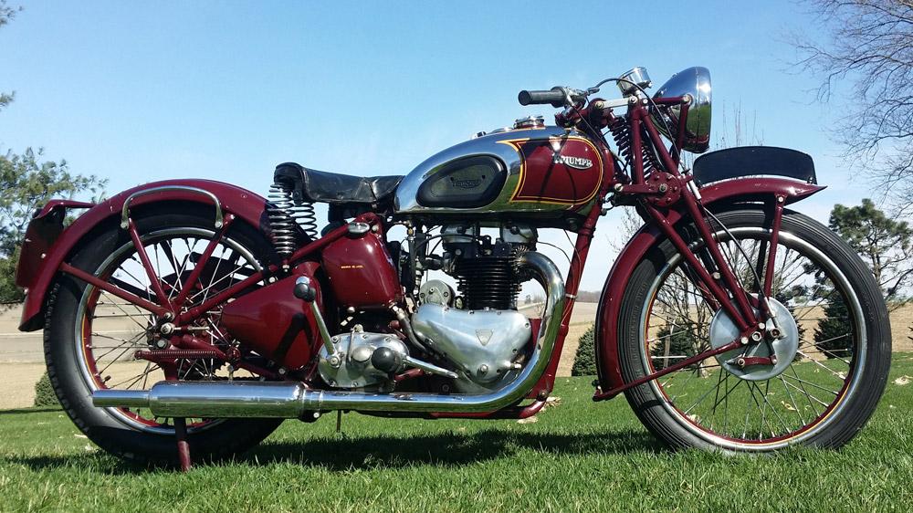 A 1938 Triumph 5T Speed Twin 500.