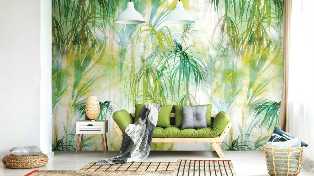 green tropical tiles