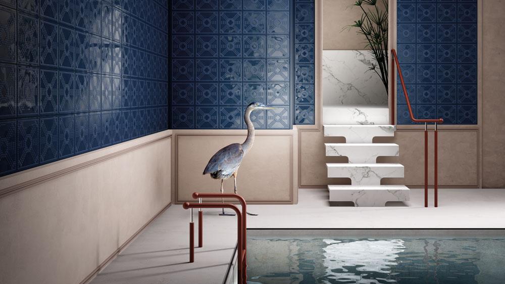 indoor pool blue tiles