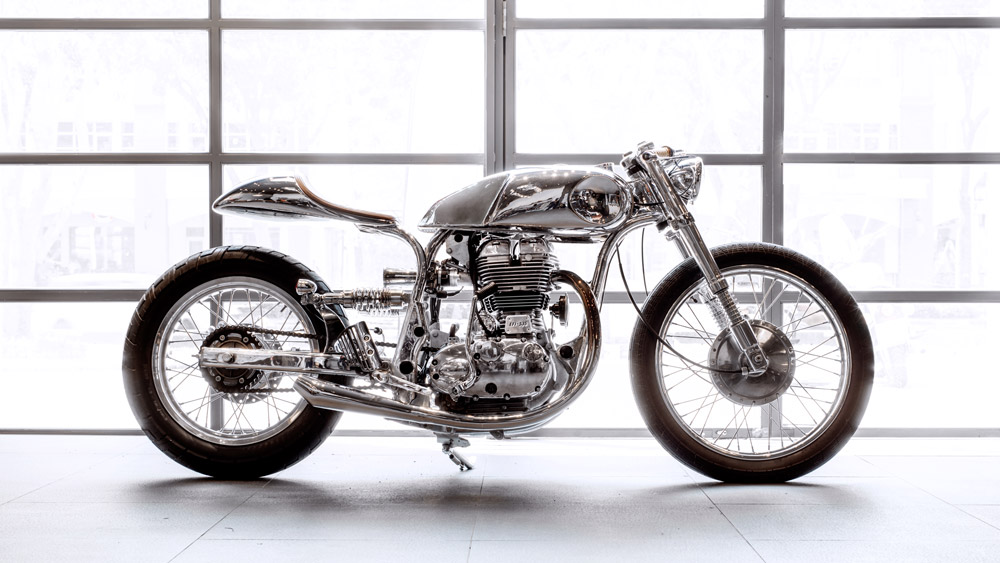 Bandit9's Arthur based on the Royal Enfield Continental GT.