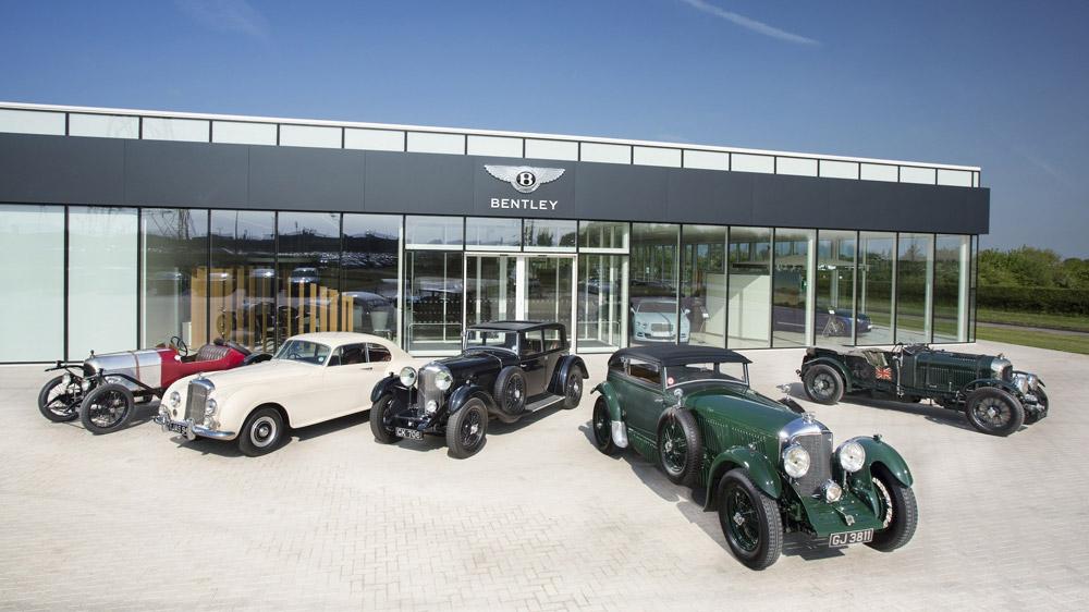 Classic Bentleys on display.