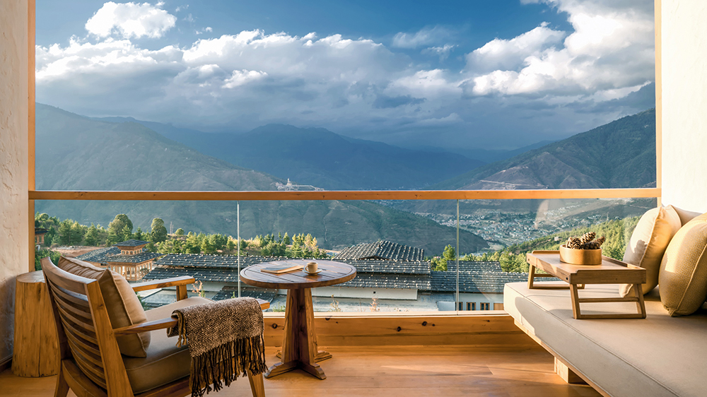 Six Senses Resort in Bhutan at Thimphu