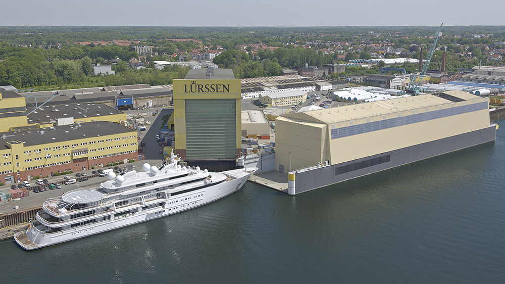 Lürssen's Bremen shipyard