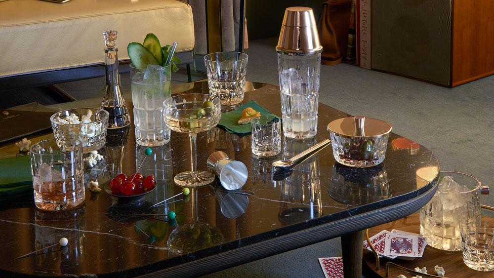 barware in living room