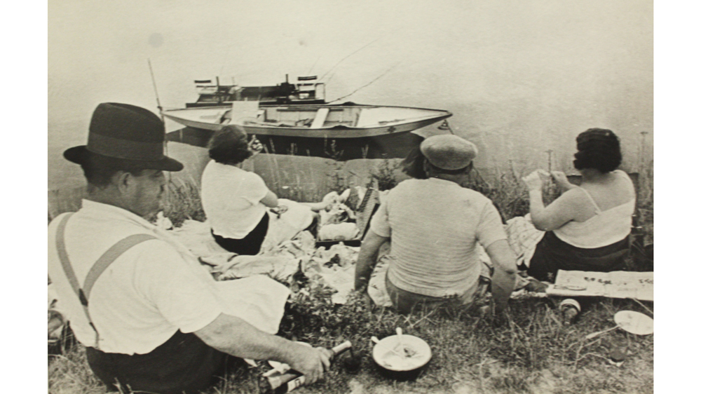 """""""On the Banks of the Marne, France (1938)"""