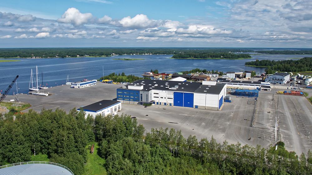 Nautor's Swan shipyard