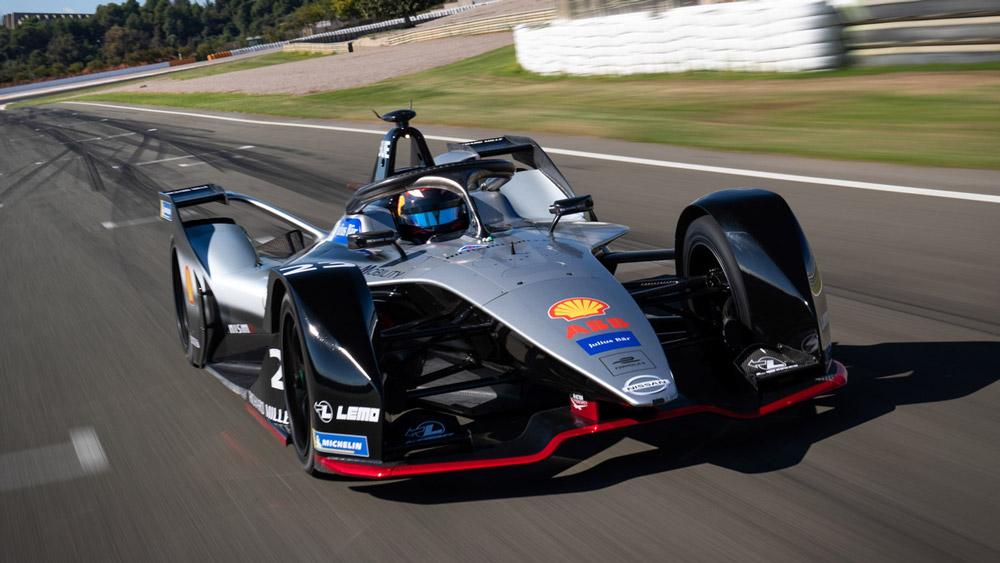 One of Nissan's Formula E race cars.