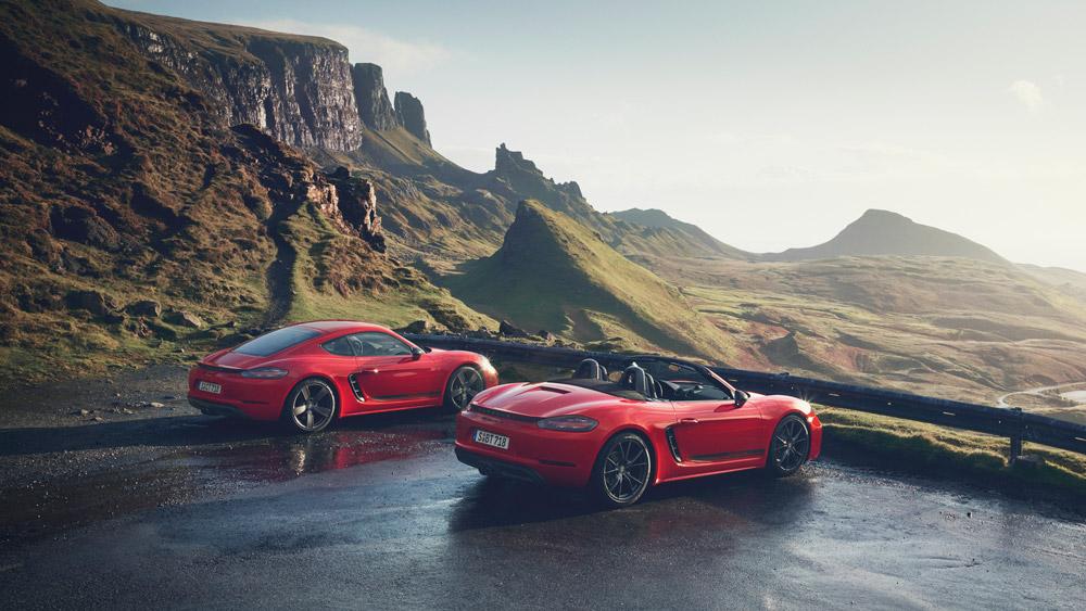 Porsche's new 718 T models.