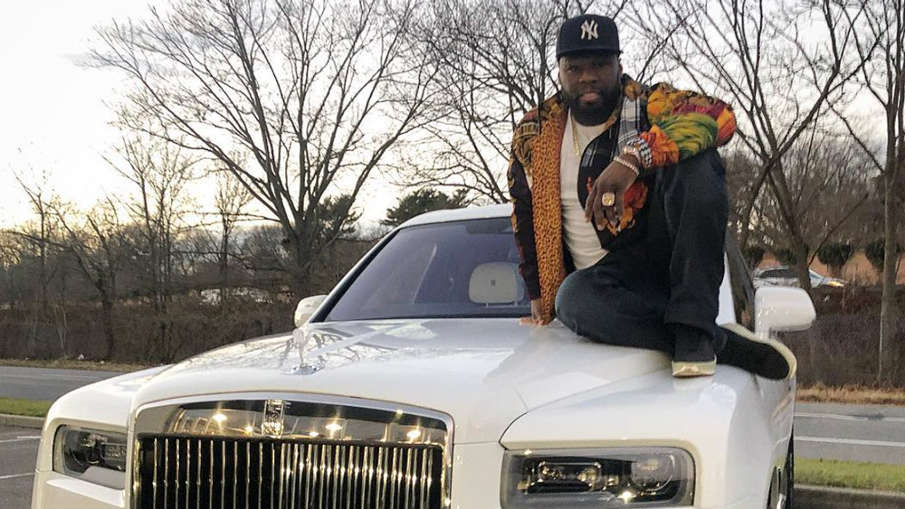"Curtis ""50 Cent"" Jackson on his new Rolls-Royce Phantom."