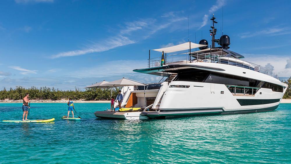 custom line vista blue charter superyacht caribbean