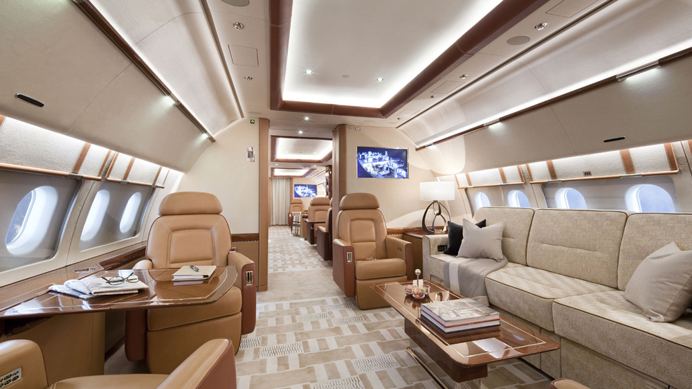 Acropolis Aviation ACJ319 cabin