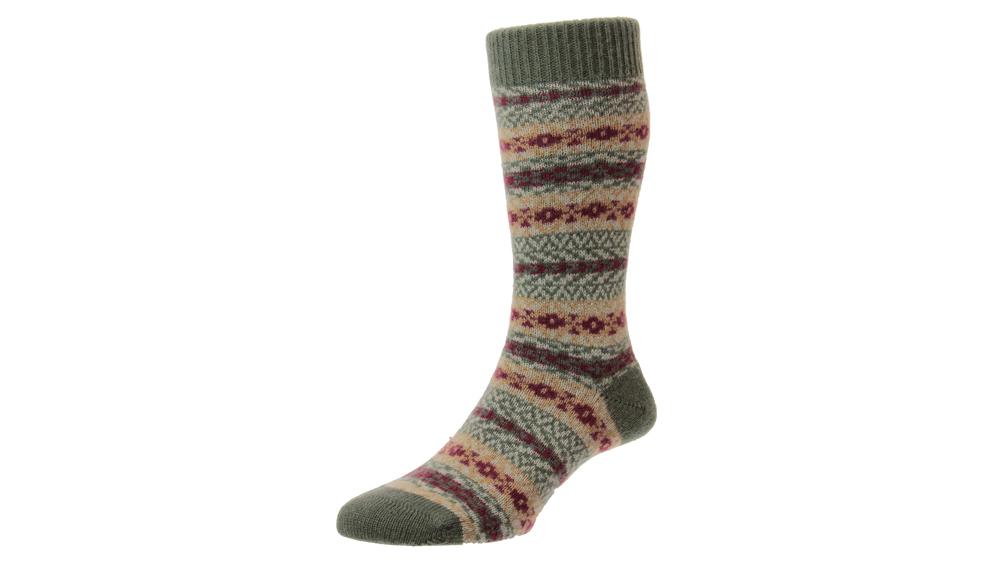 Aztec Fairisle Cashmere Men's Sock