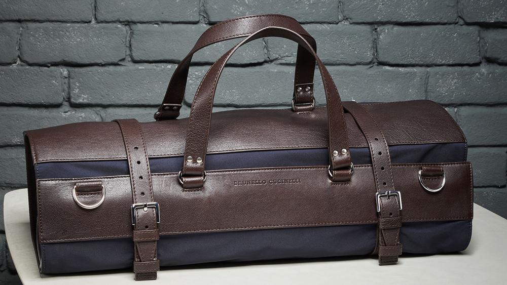 Brunello Cucinelli suit bag