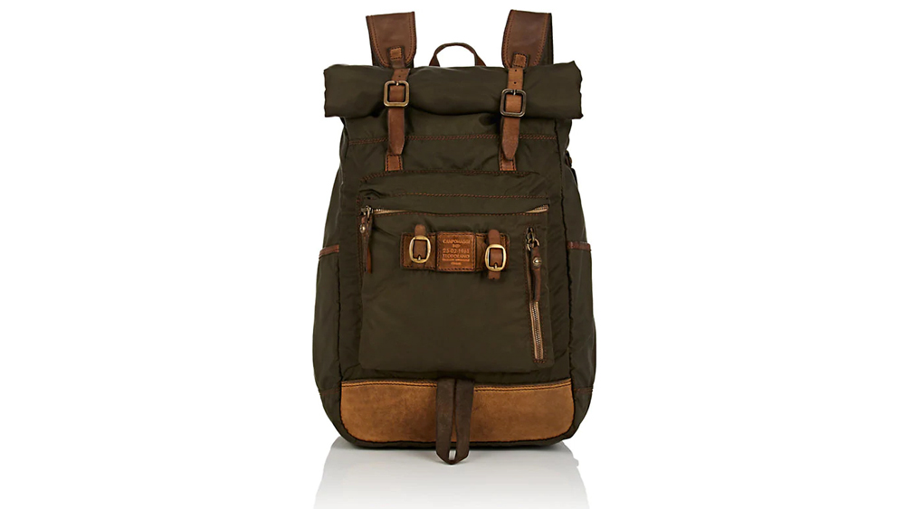 Campomaggi Leather-Trimmed Backpack