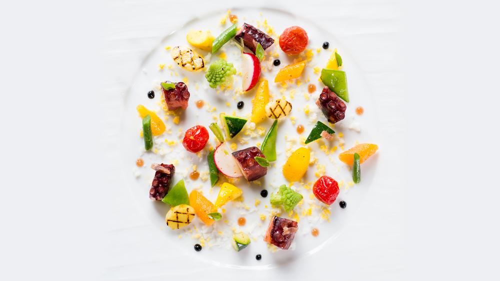Aioli Moderne, Légumes de nos Maraîchers du Beausset, Poulpe de pêche locale