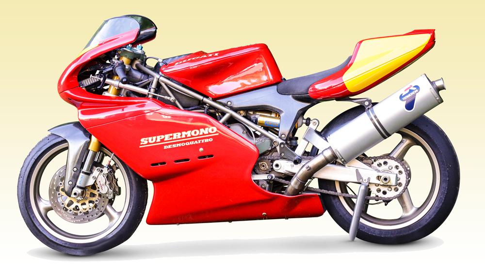 A 1993 Ducati 550cc Supermono.