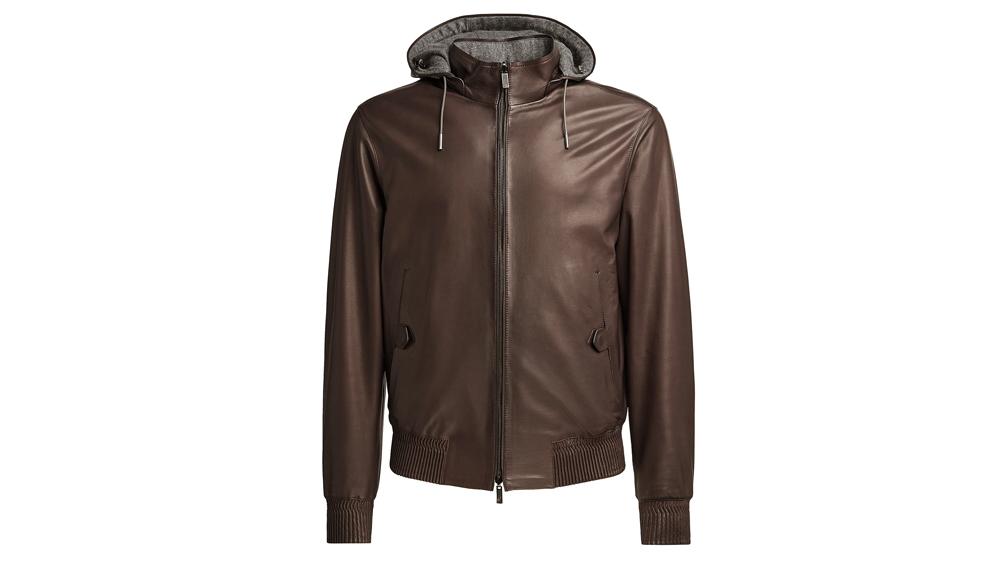 Ermenegildo Zegna Calfskin reversible jacket