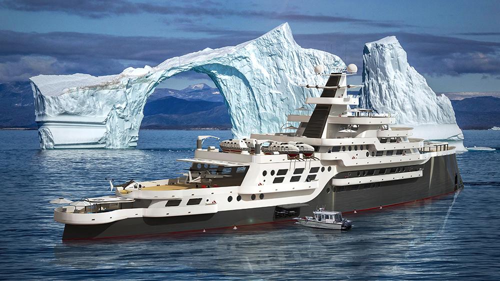 384-foot Alexis polar-explorer yacht from Goliath