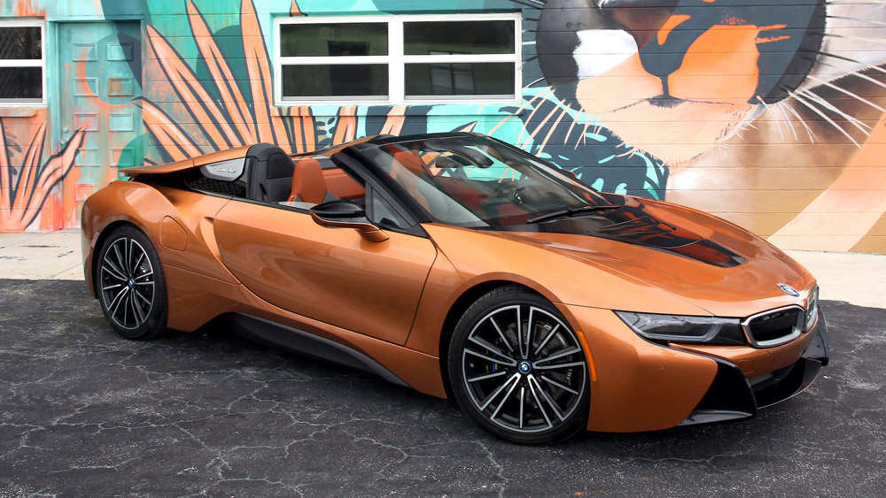 The 2019 BMW i8 Roadster.