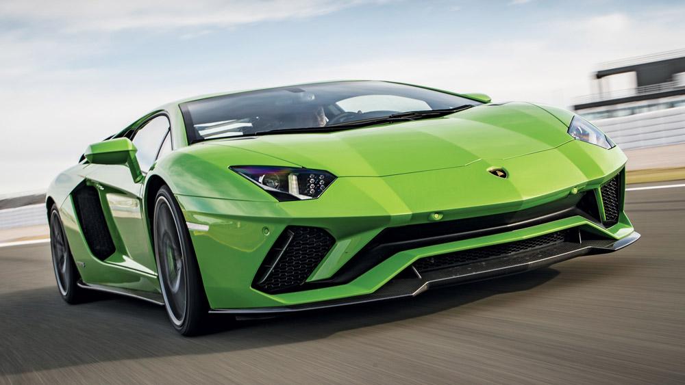 The Lamborghini Aventador S.