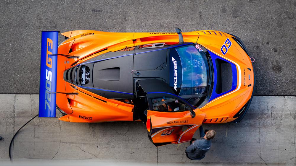 The McLaren GT3 race car.