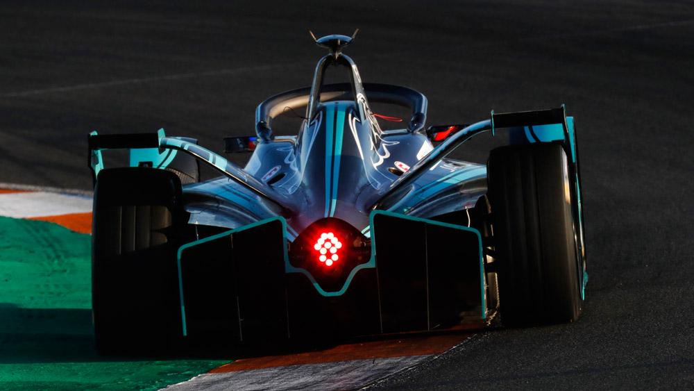 A Formula E car from Panasonic Jaguar Racing.