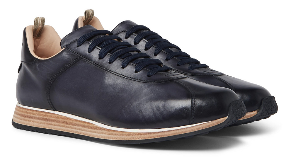 Officine Creative Keino Polished Leather Sneakers