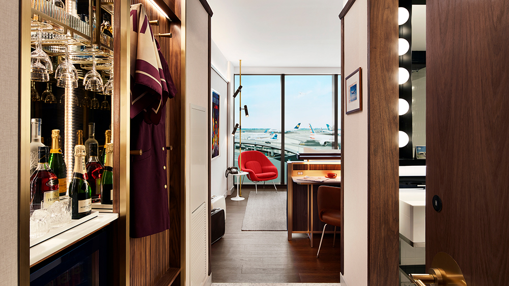Guest room at TWA hotel