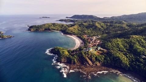 aerial drone photo of Costa Rica beach
