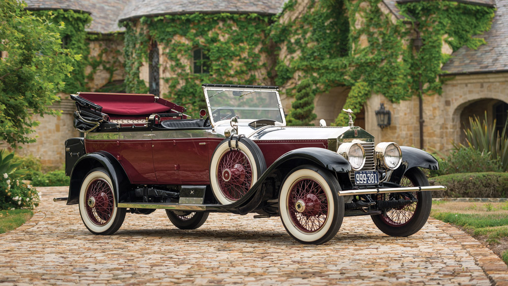 A 1923 Rolls-Royce Silver Ghost Salamanca by Rolls-Royce Custom Coach Work.