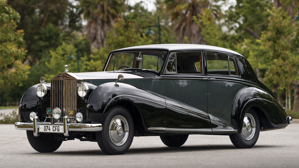 A 1952 Rolls-Royce Silver Wraith Saloon by James Young.