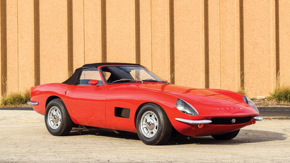A 1972 Intermeccanica Italia Spyder.