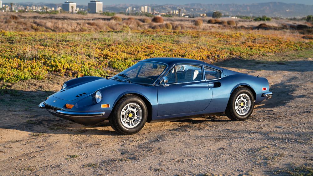 A 1972 Ferrari Dino 246 GT.