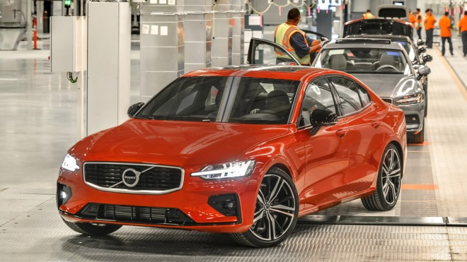 An S60 at the Volvo production facility in South Carolina.