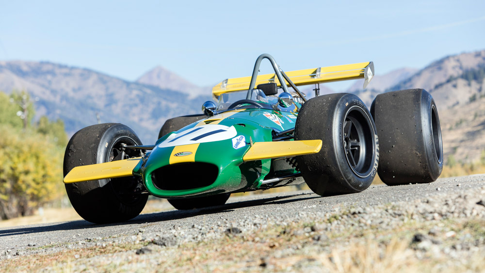 The Brabham-Cosworth BT26A race car that Jacky Ickx piloted to a Formula 1 Grand Prix victory in Canada in 1969.
