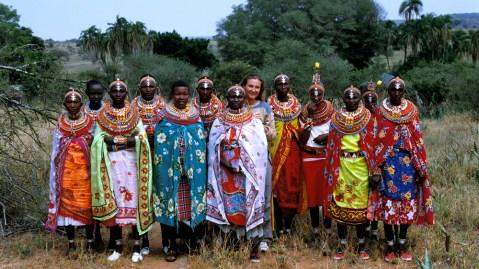 Anna and Samburu women