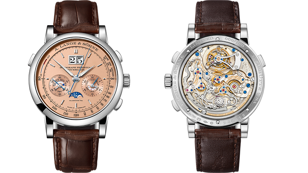 Robb Report's Best Movement Architecture Watch 2019, the A. Lange & Sohne Datograph Perpetual Tourbillon