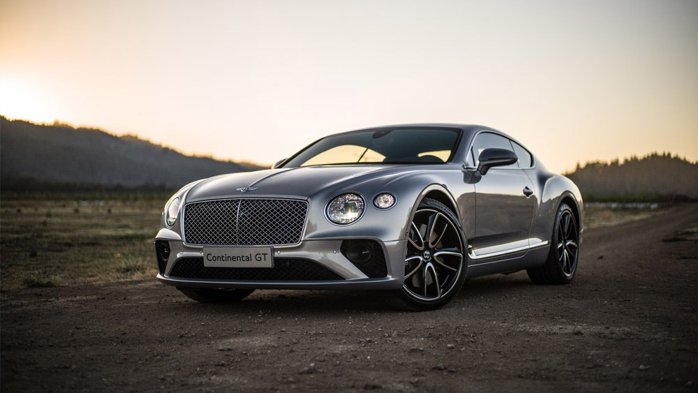 The Bentley Continental GT in Napa, Calif.