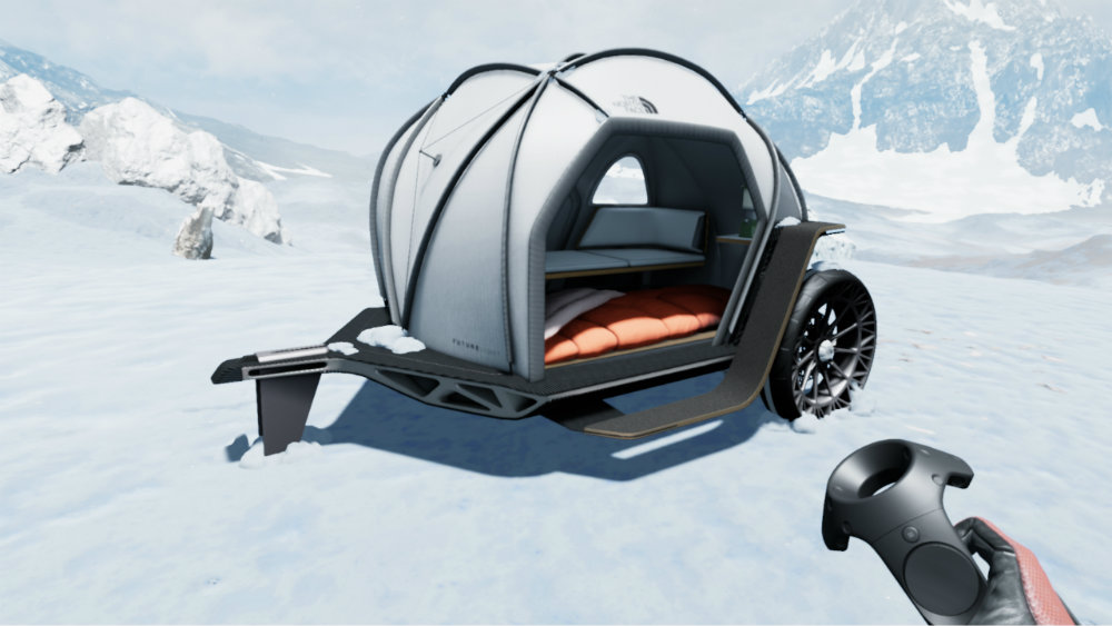 The tent on wheels by BMW and The North Face.