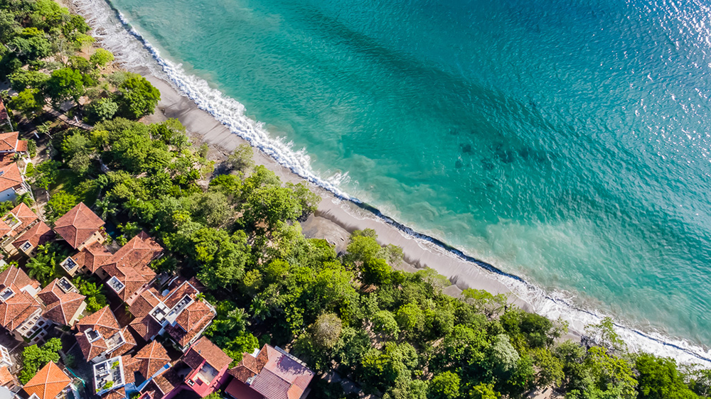 aerial drone photo of Costa Rica beach