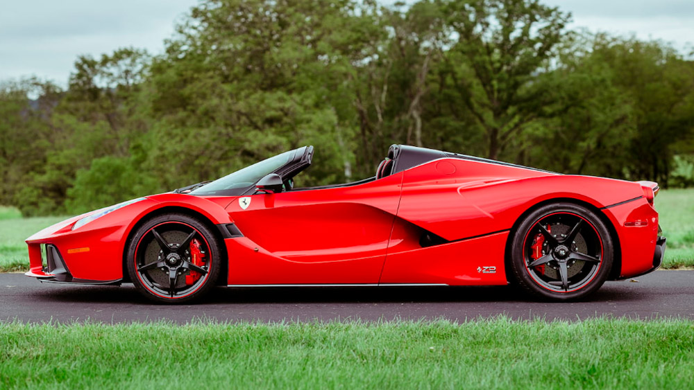 The 2016 Ferrari LaFerrari Aperta to be offered through Mecum Auctions.