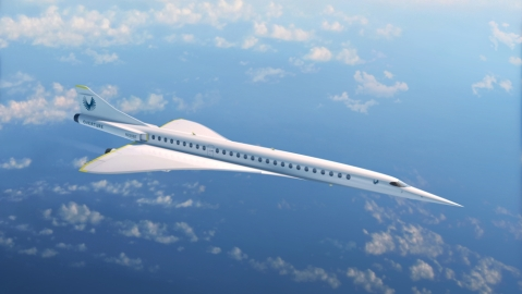 Boom Supersonic XB-1 rendering